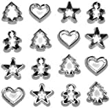 Bulk Buy: Jesse James Dress It Up Holiday Embellishments Mini Cookie Cutters (6-Pack)