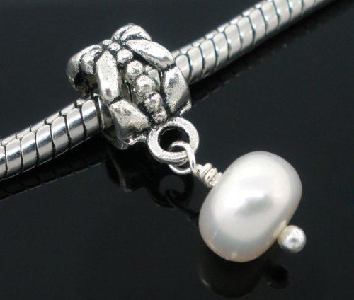 Stylish Freshwater Pearl Dangle Charm Bead by