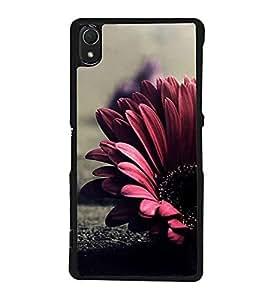 Flower 2D Hard Polycarbonate Designer Back Case Cover for Sony Xperia Z2