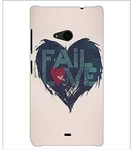 PrintDhaba Love D-5195 Back Case Cover for MICROSOFT LUMIA 535 (Multi-Coloured)