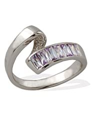Exxotic Designer Fashion Sterling Silver Lavender Stone Rings Jewellery For Women