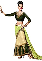 Viva N Diva Women's clothing low price sale offer low price sale offer Cream Color Net Lehanga.