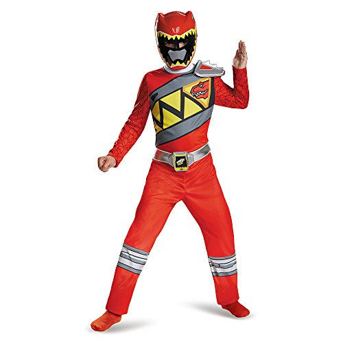 Disguise Red Ranger Dino Charge Classic Costume, Small (4-6) (Power Ranger Pajamas compare prices)