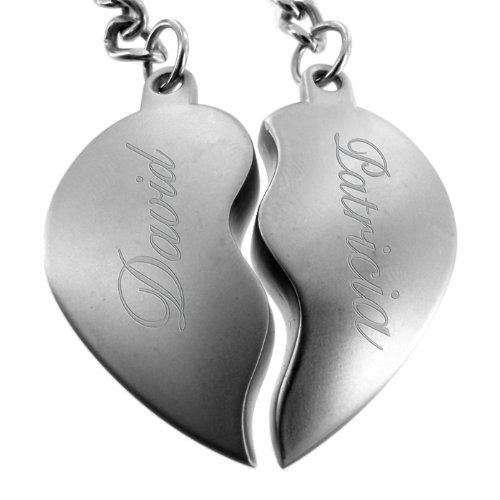 Partner-Schlüsselanhänger - Ein Herz für zwei - das perfekte Liebes-Geschenk mit Gravur