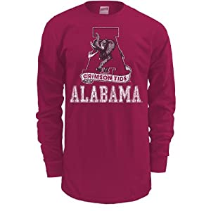Soffe Alabama Crimson Tide Men's Long Sleeve T-Shirt Xx Large