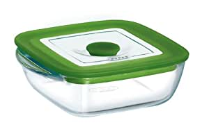 Pyrex 14 x 12 x 4 cm/ 0.3 Litre 4-in-1 Plus Square Dish with Lid