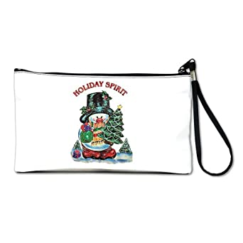 Artsmith, Inc. Clutch Bag Purse (2-Sided) Christmas Spirit Snowman with Tree and Presents