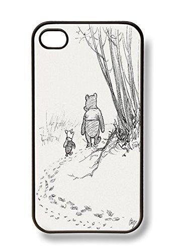 apple-iphone-4-4g-4s-cute-winnie-the-pooh-piglet-friends-forever-retro-vintage-black-sides-slim-hard