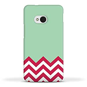 FUNKYLICIOUS HTC One M7 Back Cover Zigzag Design (Multicolour)