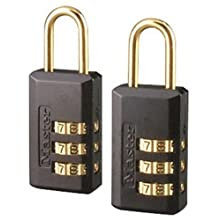 Master Lock 646T Set-Your-Own Combination Luggage Lock, 11/16-Inch, 2-Pack