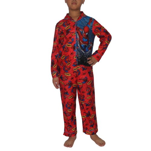2 PCS SET: Boys Or Girls SPIDER-MAN Fleece Sleepwear Pajama Top & Pants Set