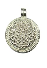 Sterling Silver Filigree Celtic Knot Pendant