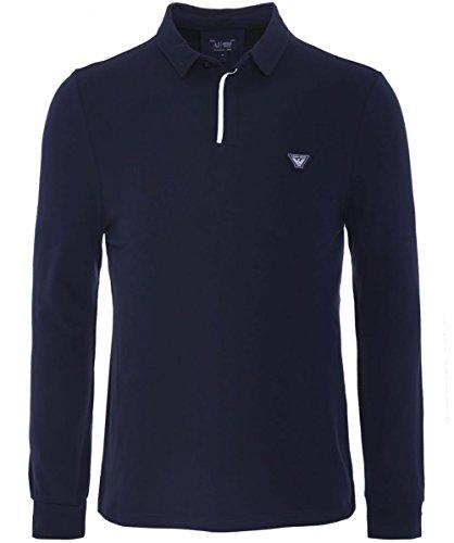 Armani Jeans Camicia Polo a maniche lunghe L Blu