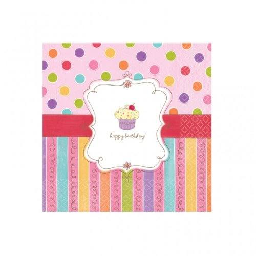 Amscan Sweet Stuff Birthday Lunch Napkins 16 Ct.