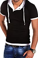 MT Styles - BS-678 - T-shirt 2 en 1 avec capuche intégrée