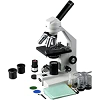 AmScope 40x-2000x Veterinay Compound Microscope + Mechanical Stage + USB2.0 Digital Camera from AmScope