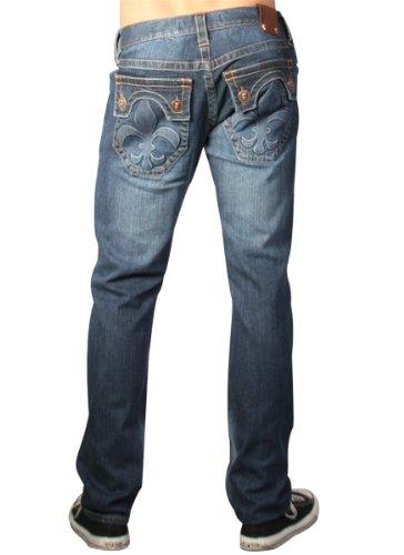 Laguna Beach - Hermosa Beach Men´s Designer Jeans, stonewashed dark blue men Size 29