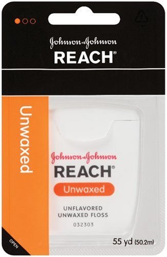 Reach Dental Floss, Unwaxed, 55 Yard (Pack Of 12) front-1005907