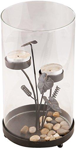 KRAFT N ROOM Metal Tealight Candle Holder (Black, 24 Cm X 14 Cm X 24 Cm)