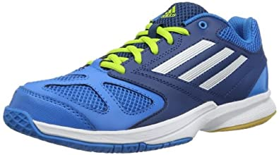 adidas Feather Team 2, Chaussures de handball homme - Bleu (SOLAR BLUE2 S14 / RUNNING WHITE FTW / TRIBE BLUE S14), 36 2/3 EU