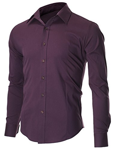 FLATSEVEN Men's Casual Button Down Shirt