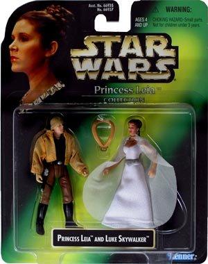 "Star Wars - Collecion de Princess Leia - Figurine - Princess Leia et Luke Skywalker - 10 cm / 3,75"""