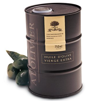 A L'Olivier Extra Virgin Olive Oil in Unique Mini Drum, 25.3 oz by A L'Olivier