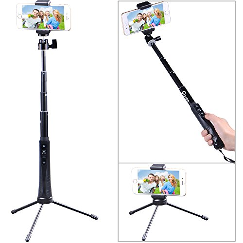 Find Cheap Cootree® KS-01 Bluetooth Extendable Selfie Stick with Bluetooth Remote Shutter + Folding...