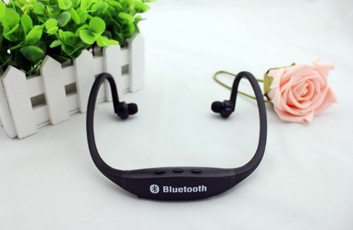 Black Sports Wireless Bluetooth Headset Headphone Earphone for IPhone Samsung
