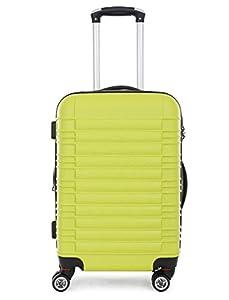 LG2088 Hartschalenkof fer Reisekoffer Reiserkofferset Trolley Koffer M-L-XL- (XL+L) - (L+M) (Grün, XL)