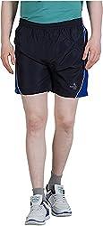 GOOD LUCK U.S.A Men's Polyester Shorts (S-0004B, BLACK, M )