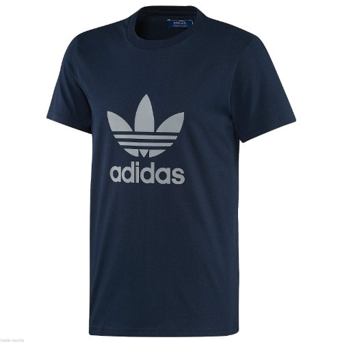 adidas-originals-mens-crew-neck-basic-retro-trefoil-casual-t-shirt-tee-l-navy