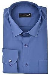 Edinwolf Men's Formal Shirt (EDFR733_40, Blue, 40)
