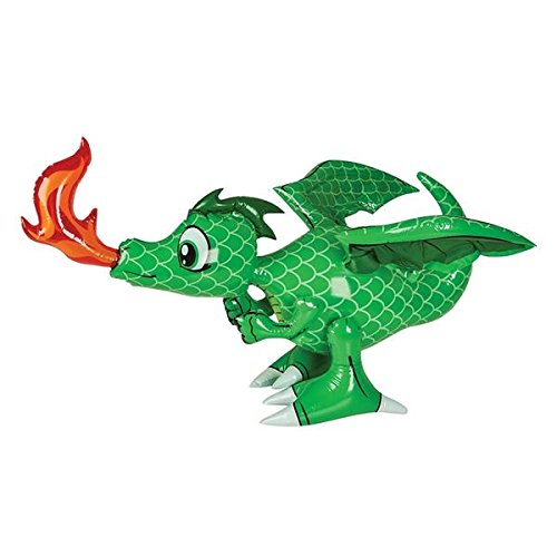 "30"" Green Inflatable Dragon - 1"