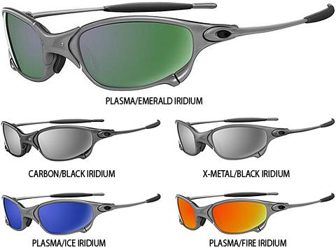 Oakley Juliet Plasma/Emerald Iridium Sunglasses