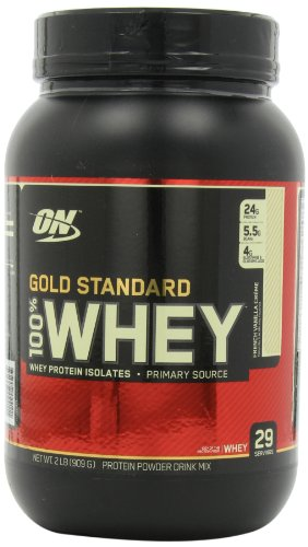 Optimum Nutrition 100% Whey Gold Standard, French Vanilla Creme, 2 Pound