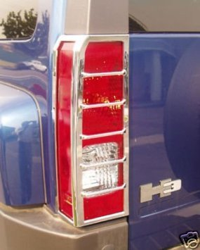 Hummer H3 Chrome Taillight Guards / Tail Light Covers 2006, 2007, 2008, 2008, 2009, and 2010 H3