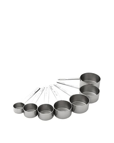 MIU France Stainless Steel Set of 7 Measuring Cups, Silver