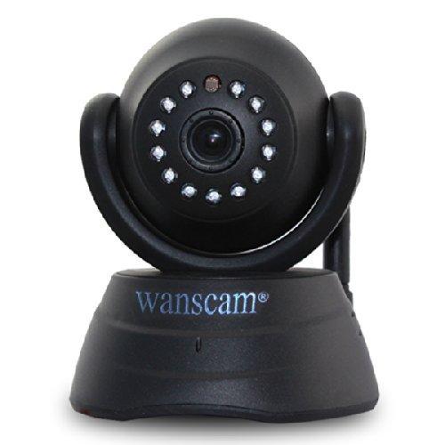 Wanscam® 720P Hd 1.0 Megapixel H.264 Wireless Wifi Ip Camera Dual Audio Ir Cut Ir Night Vision Baby Monitor Built-In Microphone/Speaker Black front-264712
