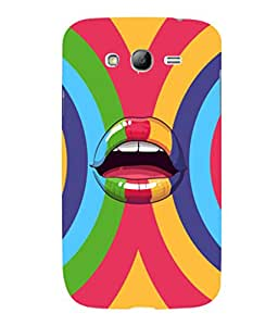 printtech Pop Lips Colored Back Case Cover for Samsung Galaxy Grand i9080:::Samsung Galaxy Grand i9082