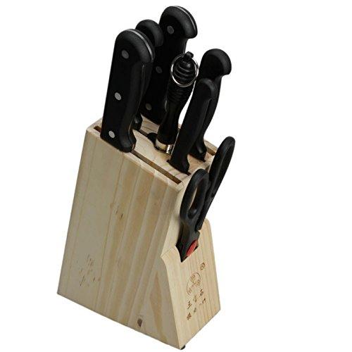 Practical Kitchen Knives Block Set 8 Pcs Tmr