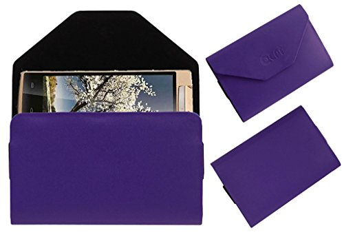 Acm Premium Pouch Case For Iball Andi Avonte 5 Flip Flap Cover Holder Purple  available at amazon for Rs.179