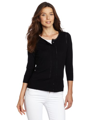 Anne Klein Women's Cardigan With Pointelle Detail