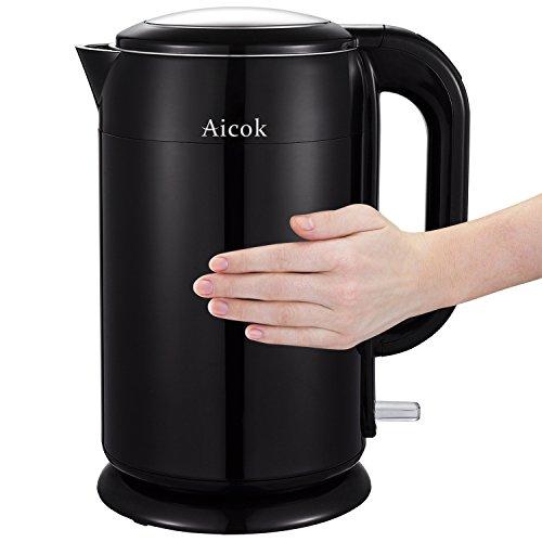 Aicok-Hervidor-de-Agua-Elctrico-Acero-Inoxidable-sin-CablesDoble-Pared-17-Litros-Negro