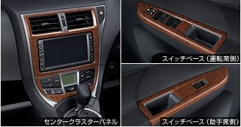 Toyota interior panel Wood Brown RACTIS practices [NCP120 / 122/125 NSP120 / 122] 08172-52530 (Toyota Ractis compare prices)
