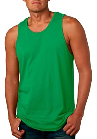 Next Level Men's Comfort SuperSoft Jersey Tank Top. 3633,Small,Kelly Green