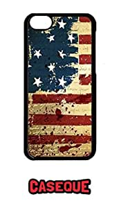 Caseque USA Flag Back Shell Case Cover for Apple iPhone 5C