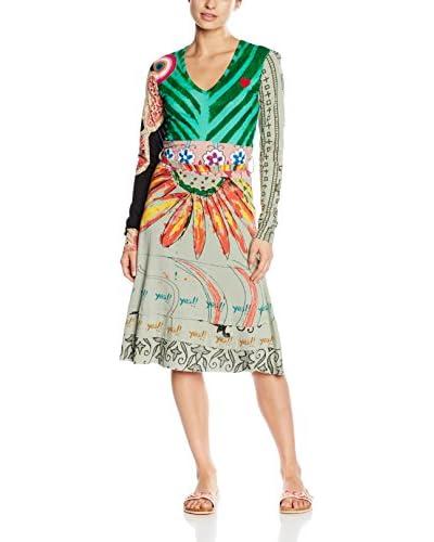 Desigual Dress Vest_Shadow Rep, 4017 Verde Ma 4017