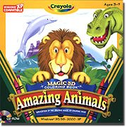 Crayola Magic 3D Coloring Book - Amazing Animals front-886062