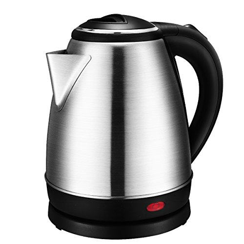 Turbot 1.5 Liter Stainless Steel 1500 Watt Cordless Electric Kettle with Auto Shut-off Overheating Protection (Cordless Teapot Lamp compare prices)